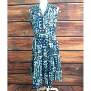 Serengeti Catalog Blue Collared Dress Size Medium